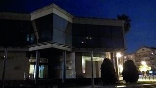 Apagada de les llums a l'edifici de l'Ajuntament de Roquetes