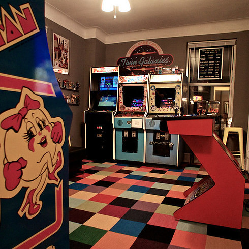 Chris Kooluris's retro gaming Manhattan bedroom