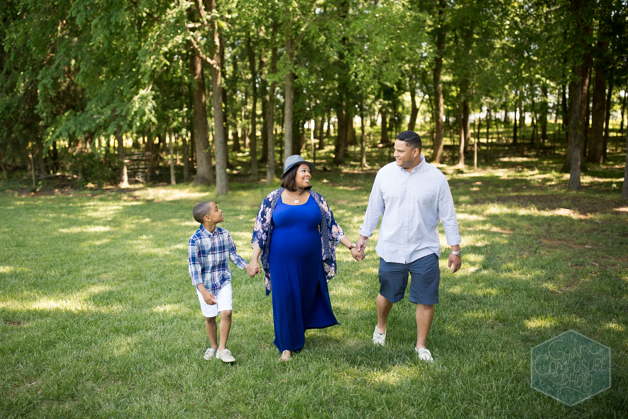 family maternity photo session