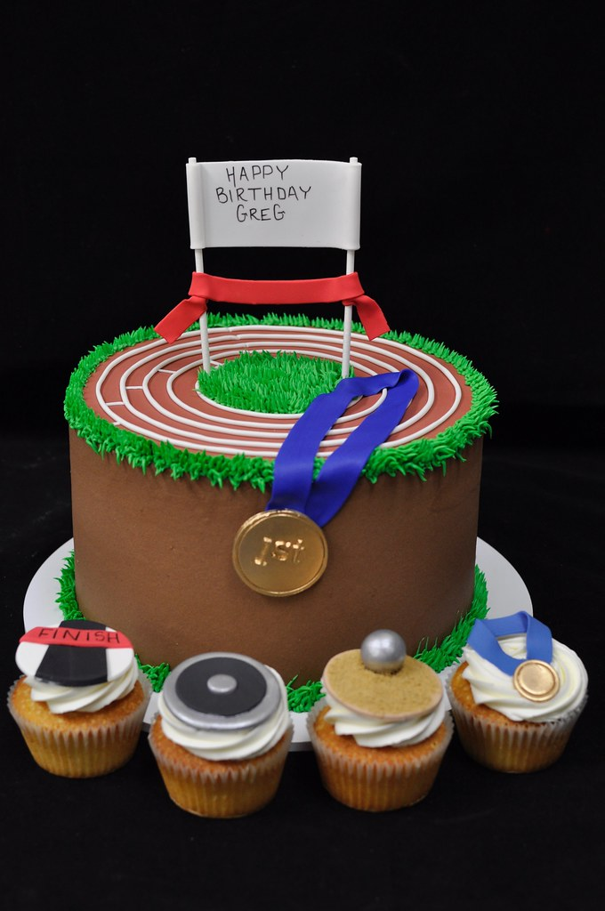 Birthday Cakes For Boys Track And Field