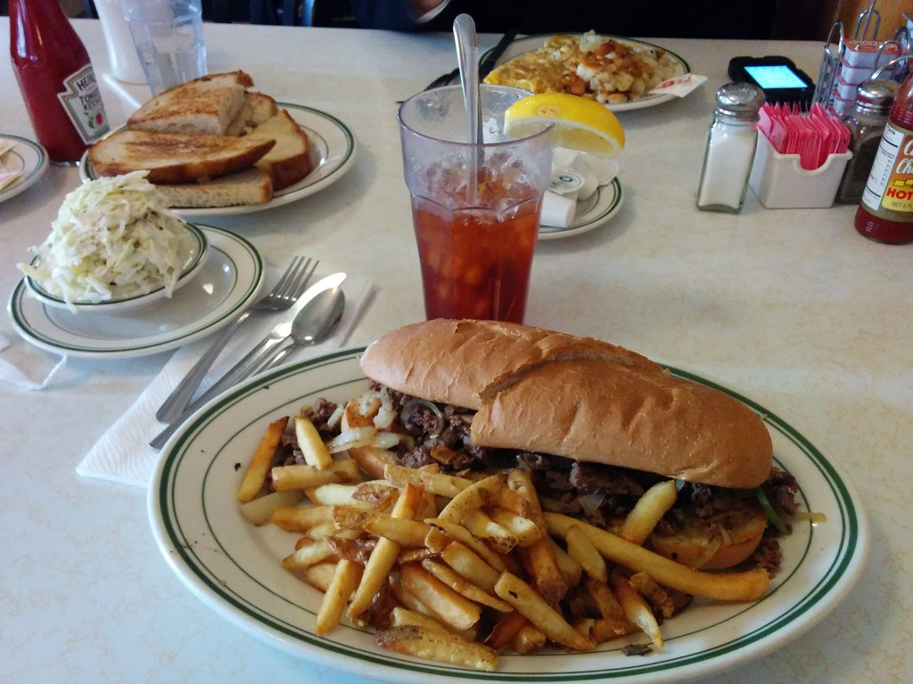 phillips cheese steak sand at the original pantry cafe l flickr