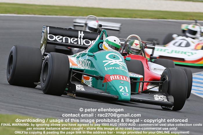 Benetton B186 Bmw F1 Turbo Ex Gerhard Berger 1986 F1 Gr