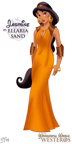 Disney Princesses vs Game of Thrones by DjeDjehuti - Jasmine as Ellaria Sand