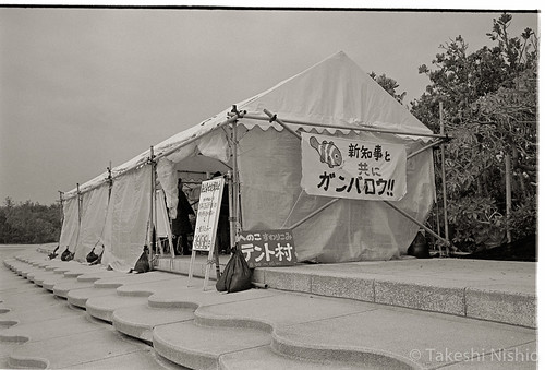 浜辺の建設反対運動 / opposition movement at seaside