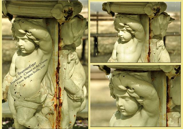 Brunnenfigur - Chinon an der Vienne - Frankreichurlaub 2016 - Fotos: Brigitte Stolle