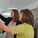 Santa Fe Community College's Early Childhood Center of Excellence Director Dr. Jennifer Duran-Sallee (left) gives a tour of the Kids Campus to Cabinet Secretary of New Mexico Higher Education Dr. Barbara Damron (center) and SFCC President Randy Grissom during a luncheon celebrating the achievement of a $1.4 million endowment.
