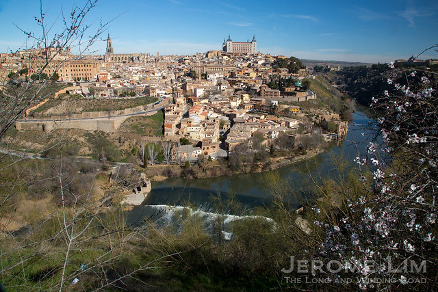 The historic city of Toledo, as view from Cerro del Emperador.