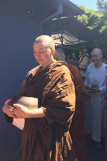 Venerable Candā on almsround