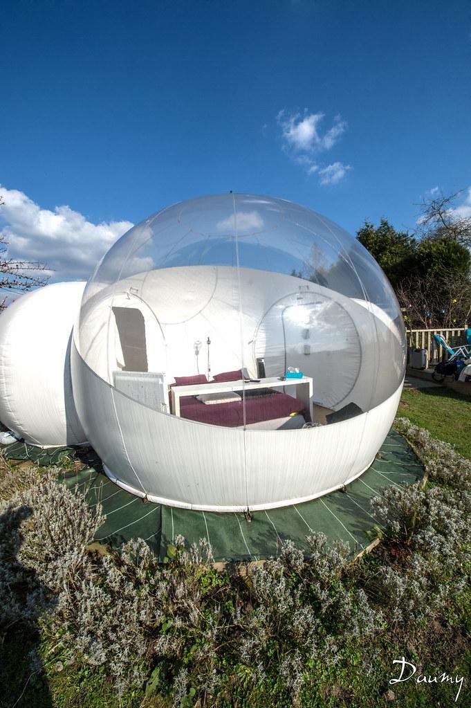 nuit insolite la bulle attiches 59 nord france. Black Bedroom Furniture Sets. Home Design Ideas