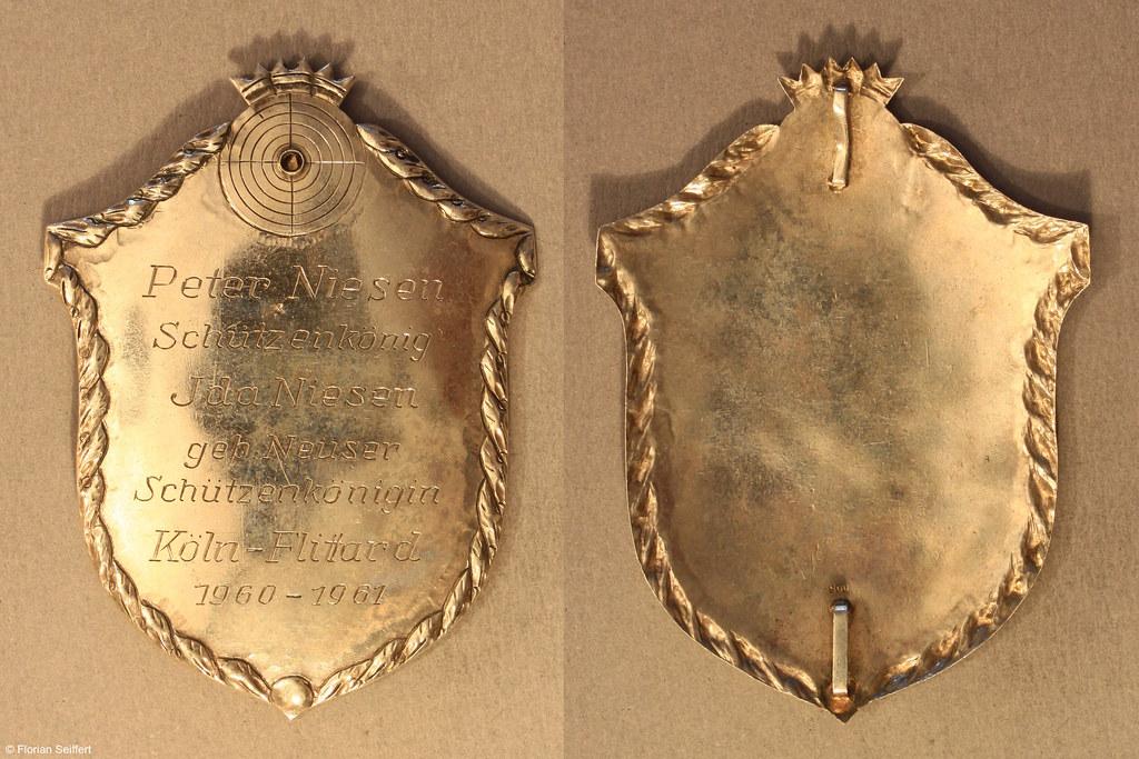 Koenigsschild Flittard von niesen peter aus dem Jahr 1960