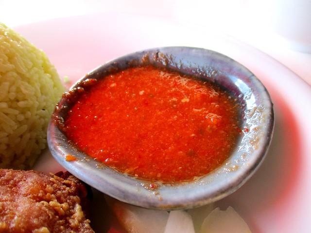 Chicken rice chili dip