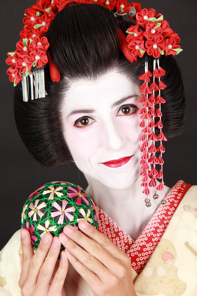 Vestida de Maiko en Kioto