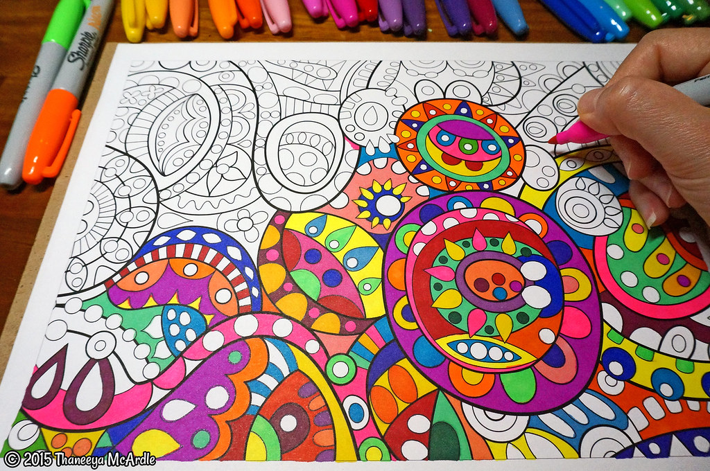 Groovy Abstract Coloring Pages : Groovy abstract coloring book art by thaneeya mcardle flickr
