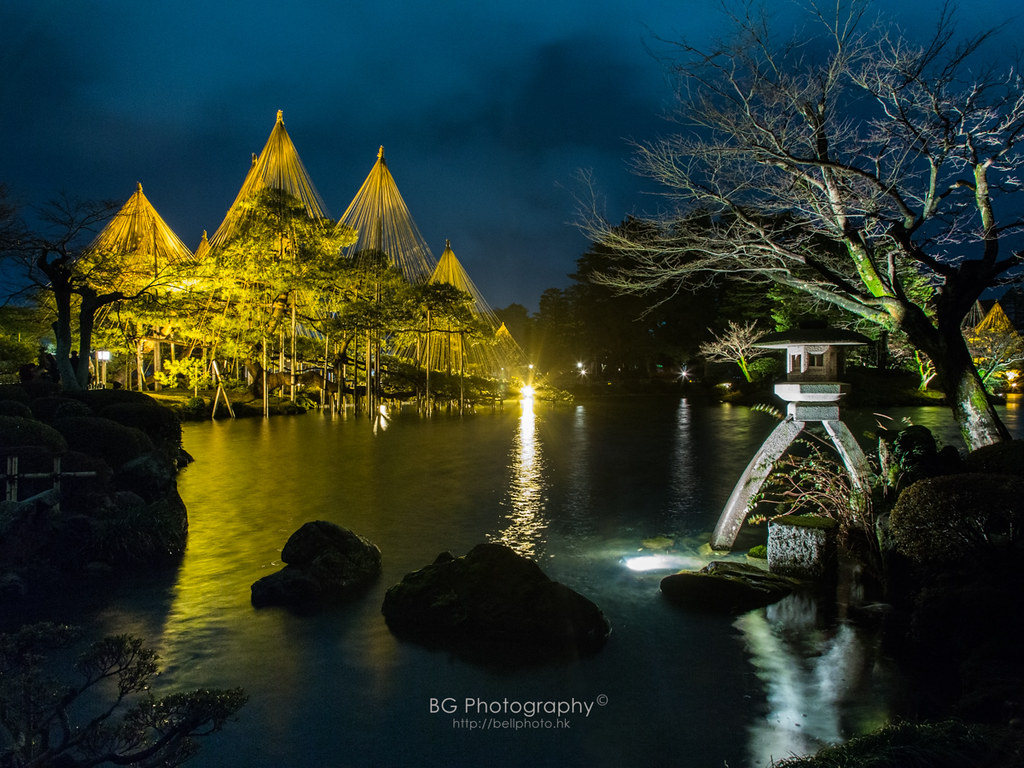 Light up of kenrokuen garden kanazawa japan - Dental associates garden city ks ...