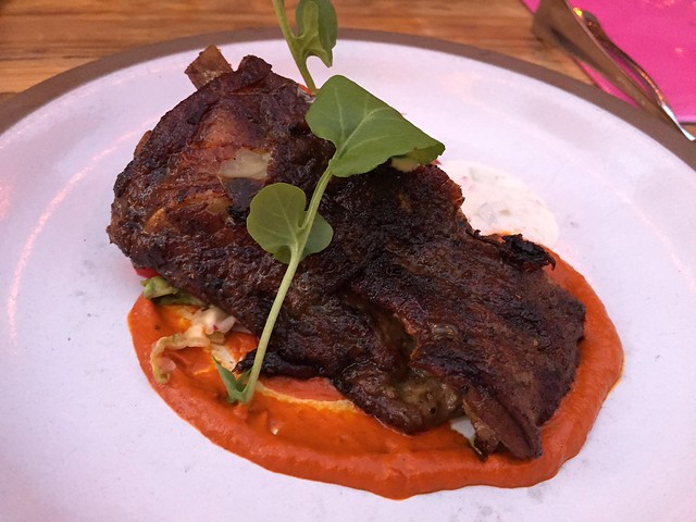 Grilled Moroccan lamb ribs - Foreign Cinema