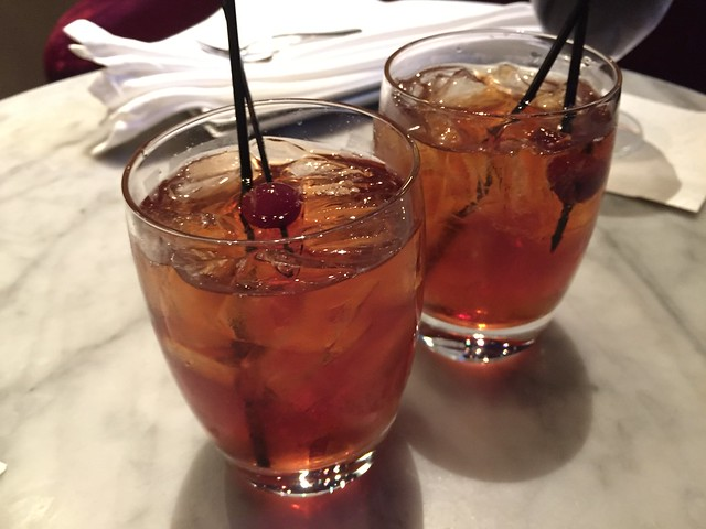 Classic Manhattan cocktails - Farallon