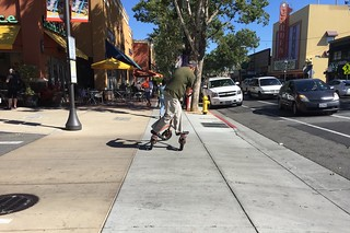3-wheel cycle rider near Lincoln Ave Willow Glen on 25 May 2016