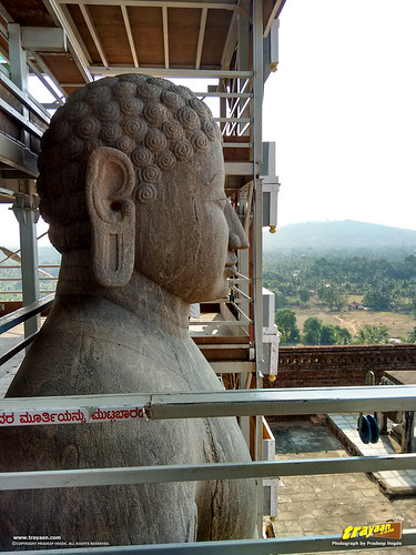 Bahubali the Gomateshwara monloith in Karkala, Udupi district, Karnataka, India
