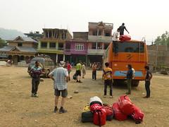 Ankunft in der Nähe von Arughat Bazar