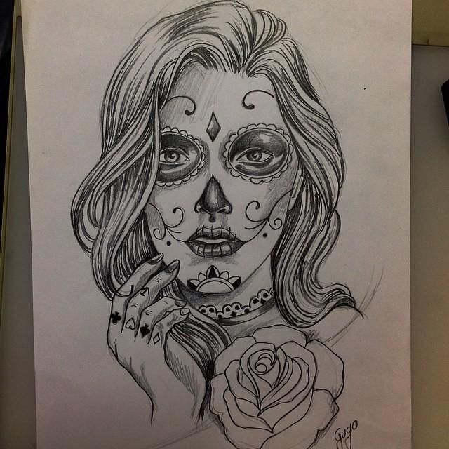 #sketch #skulltattoo #catrina #catrinatattoo #gugo #gugota