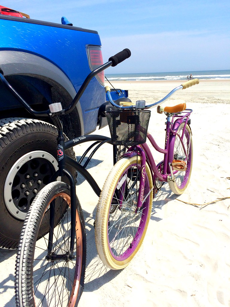 My friend Stephanie and her husband Rick's bikes on the beach in St. Augustine, FL