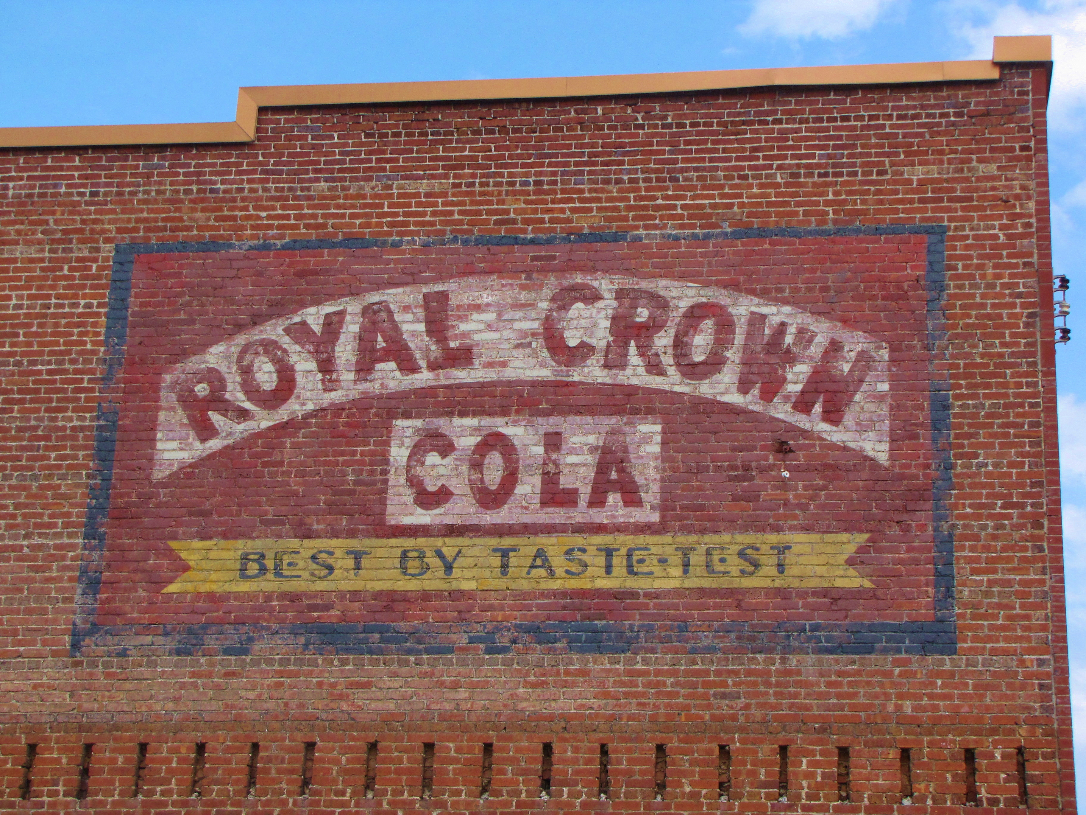 Royal Crown Cola ghost sign - Badin, North Carolina U.S.A. - June 24, 2016