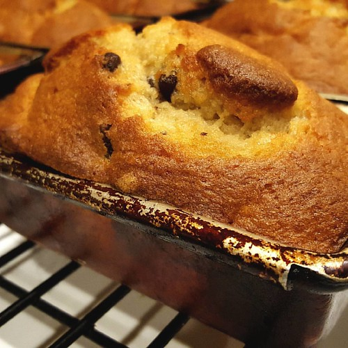 Chocolate chunk loaves are back. Get yours today! #caffedbolla #baking #chocolatechunkloaf #slc #coffee