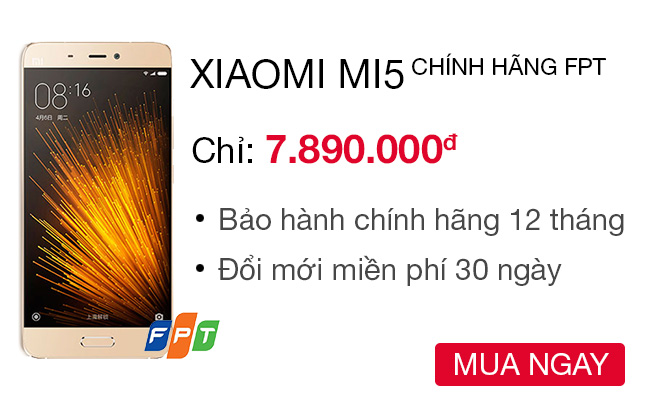 Xiaomi Mi 5 32 GB Công ty - CellphoneS