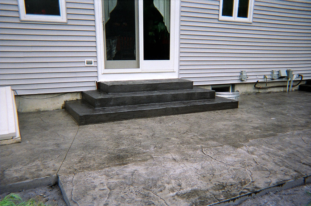 Stamped A1 Concrete Patio Steps House Millbury MA | Stamped U2026 | Flickr