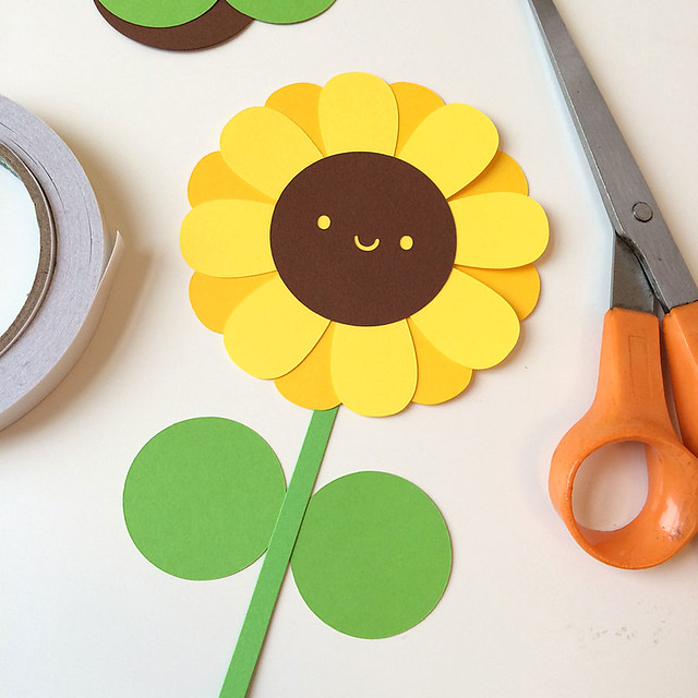 Sunflower paper cut