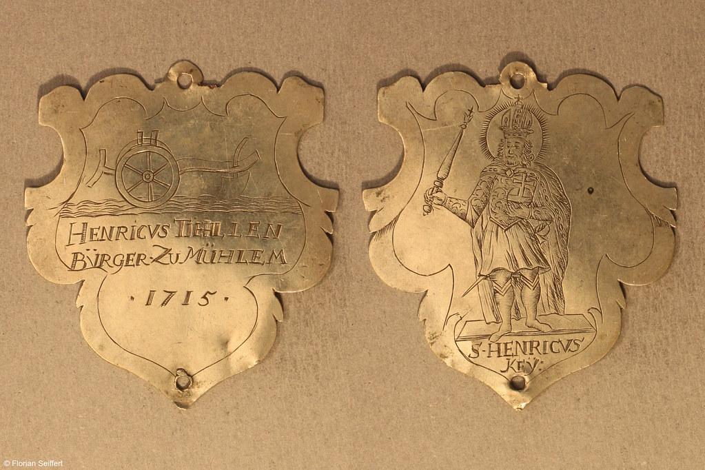 Koenigsschild Flittard von tiehllen henricvs aus dem Jahr 1715