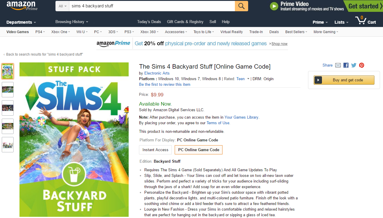 the sims 4 backyard stuff now available on amazon simsvip