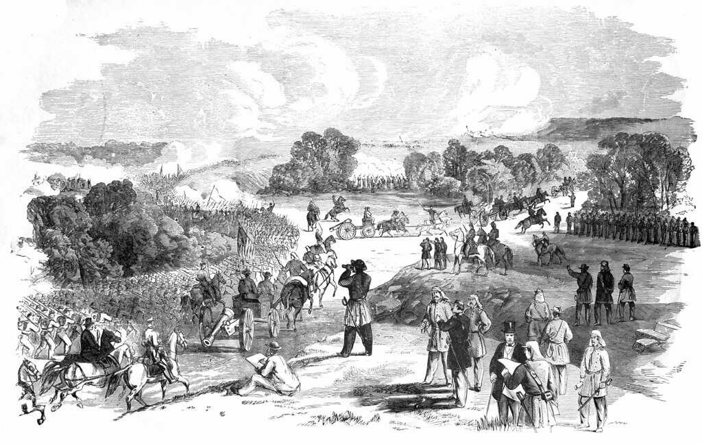 The Battle Of Bull Run, between the Federal Army, Commanded by Major General McDowell, and the Confederate Army, under Generals Johnston and Beauregard, on July 21st, 1861—Advance of the Federal Troops.