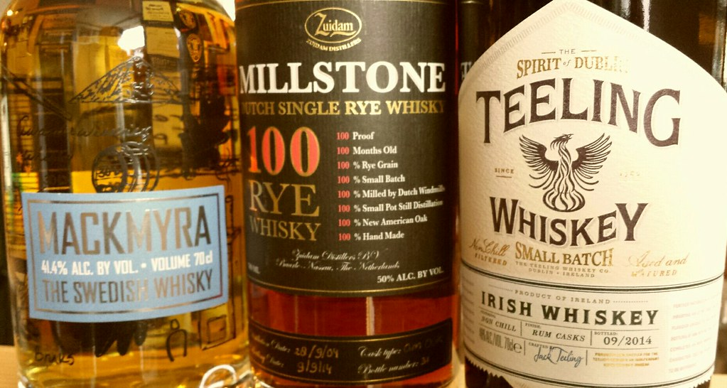 Irish Whsikey: Bottle of Teeling, Millstone and Mackmyra