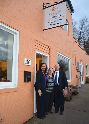 USDA Under Secretary Lisa Mensah visiting the Kentucky Guild of Artists and Craftsmen
