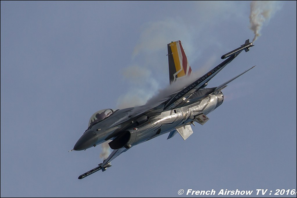 Belgian Air Force F-16 Solo Display, F-16 Belge , Meeting de l'air ba-125 Istres , Fosa , Meeting Aerien 2016