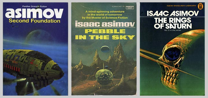 ctrio of Asimov covers