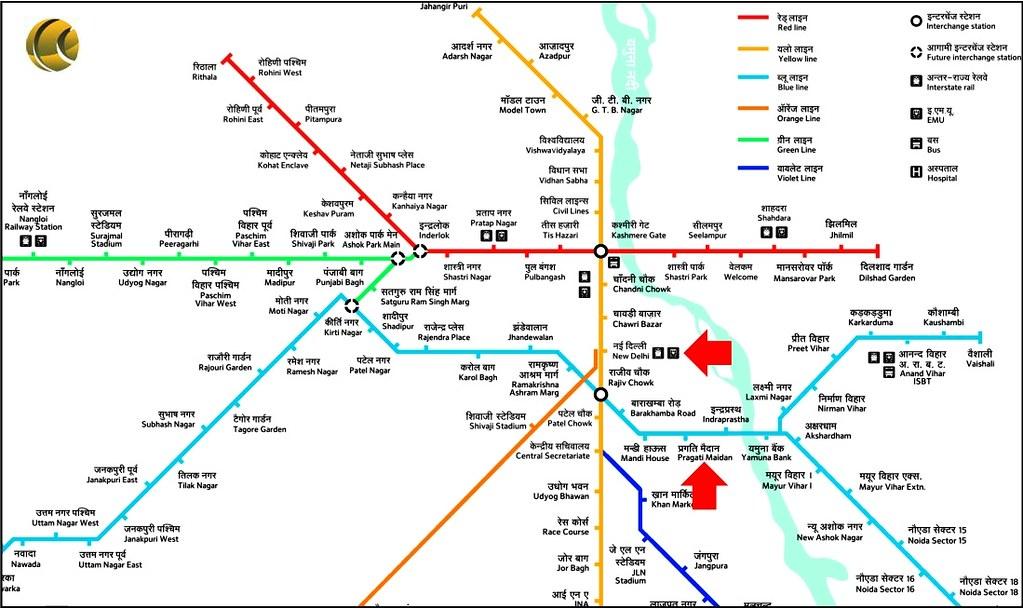 how to understand delhi map