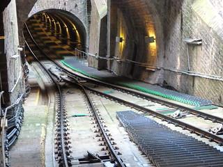 Vías del funicular de Heidelberg (Alemania)
