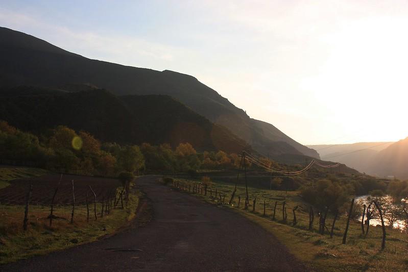 рассвет в горах, Грузия