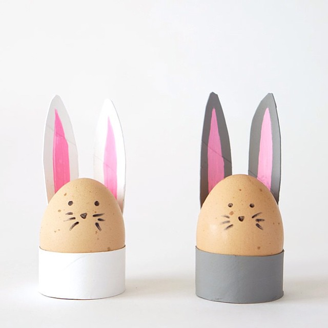 TP Roll Bunny Egg Holders