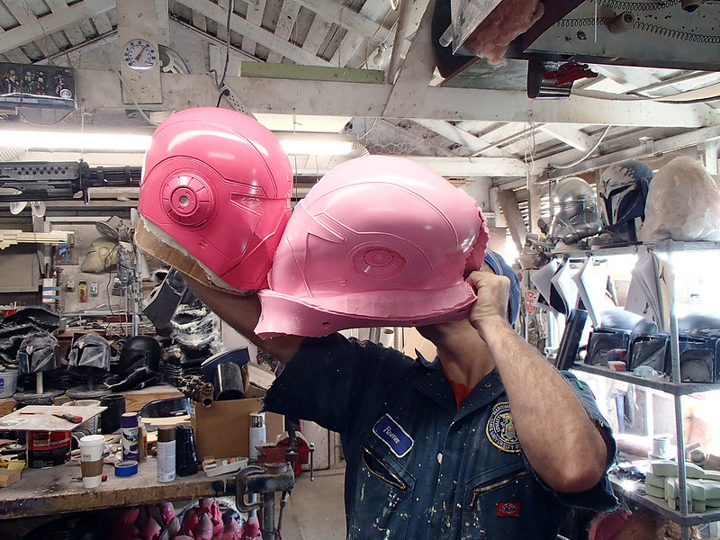 Demolding Shae Helmet Prototype