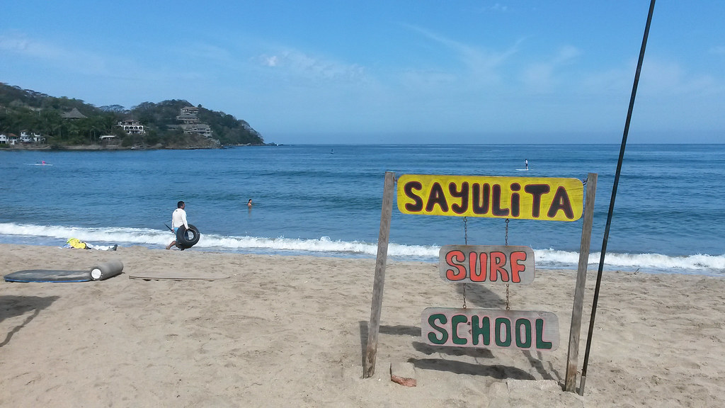 surffikoulu, Sayulita, Meksiko
