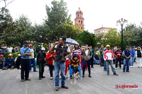 """Se manifiesta el MPL; denuncian """"hostigamiento"""""""