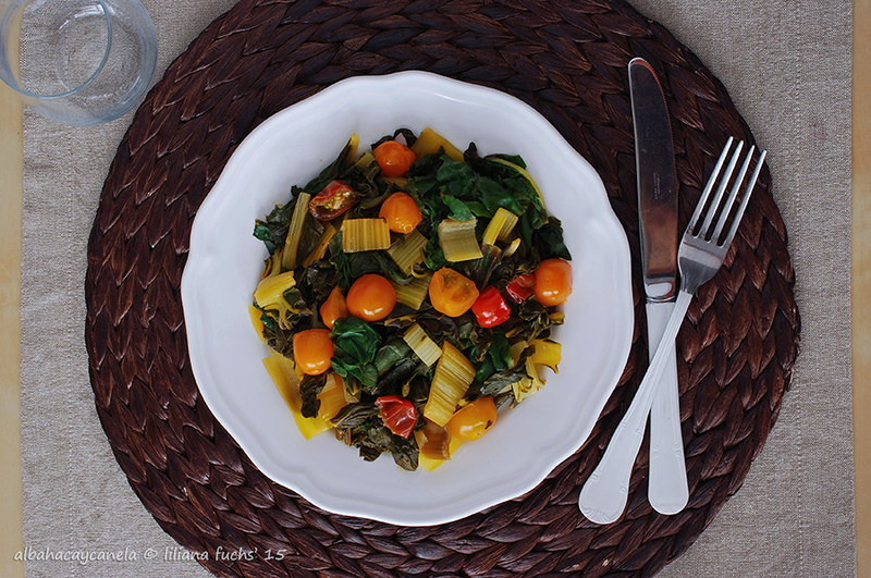 Sauteed swiss chard with tomatoes