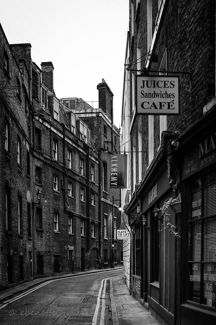 A back street in Mayfair, London