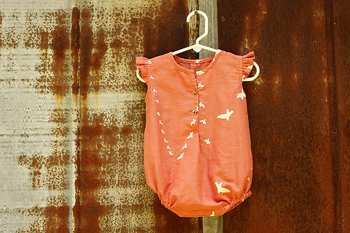 Lullaby Rompers in Birch Organics