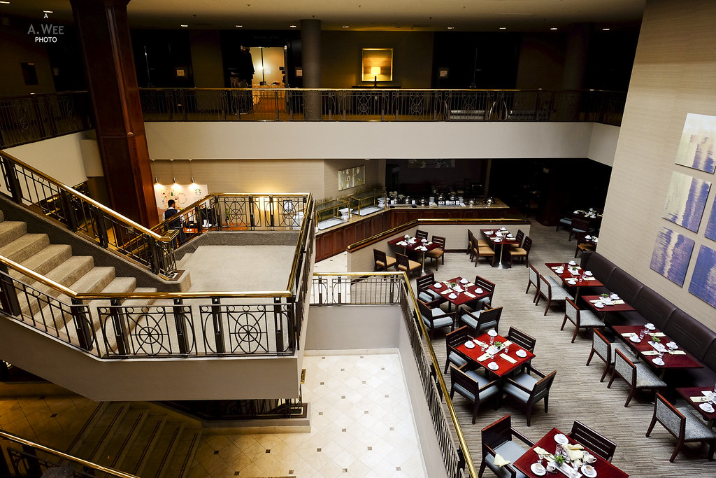 Hotel restaurant and mezzanine