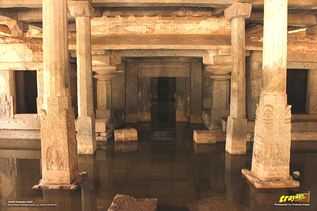 Prasanna Virupaksha Temple a.k.a Underground Shiva Temple in Hampi, Ballari district, Karnataka, India