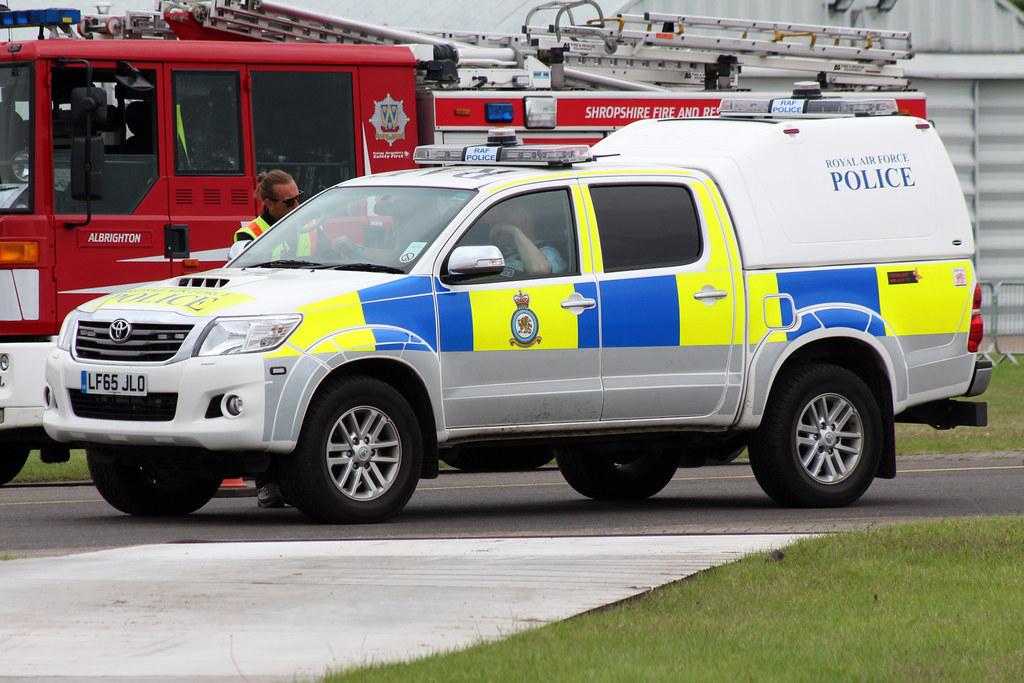 Toyota Hilux Raf Police Lf65jlo Raf Cosford Air Show 19